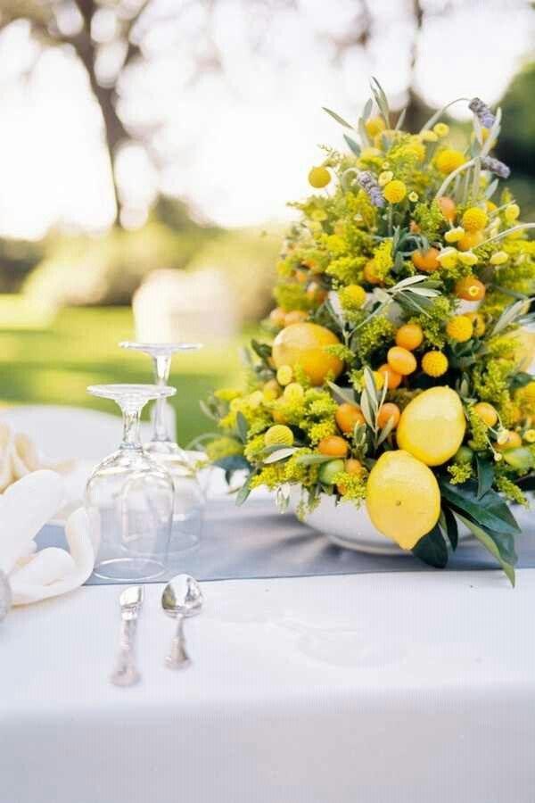 Centro alto de limones