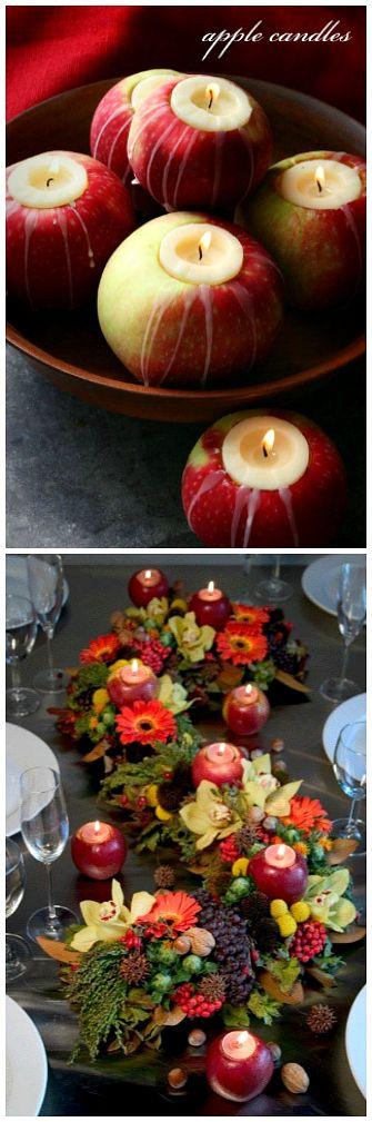 Velas naturales hechas de manzana