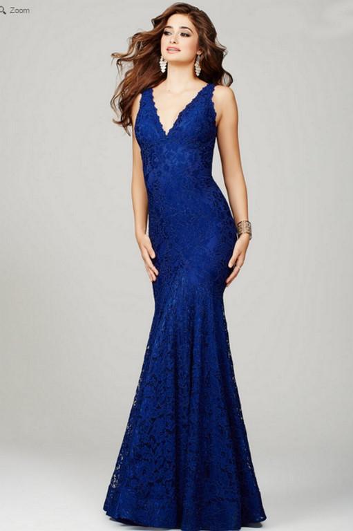 Vestido sirena en el color más elegante, el azul