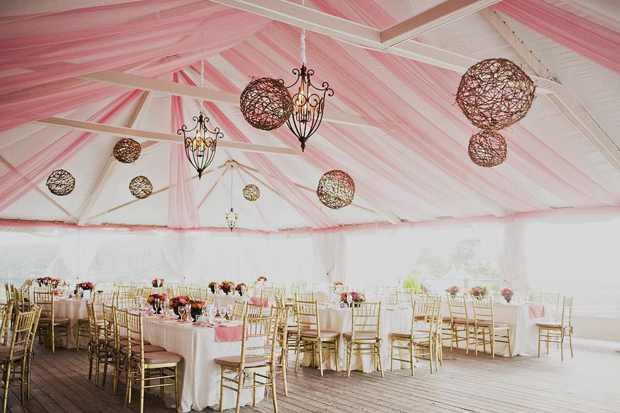 Telas en color rosado para una boda romántica y de estilo shabby-chic