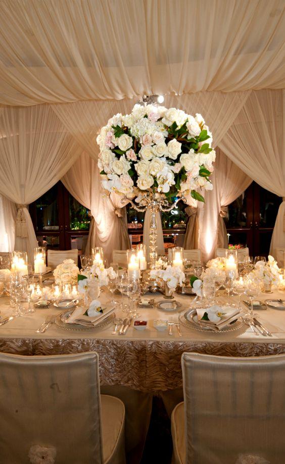 Cortinas elegantes para tu banquete
