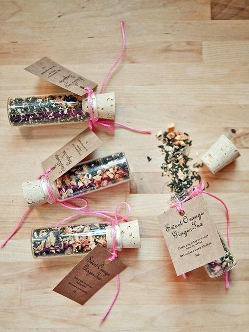 Saquitos de té para tus invitados de boda