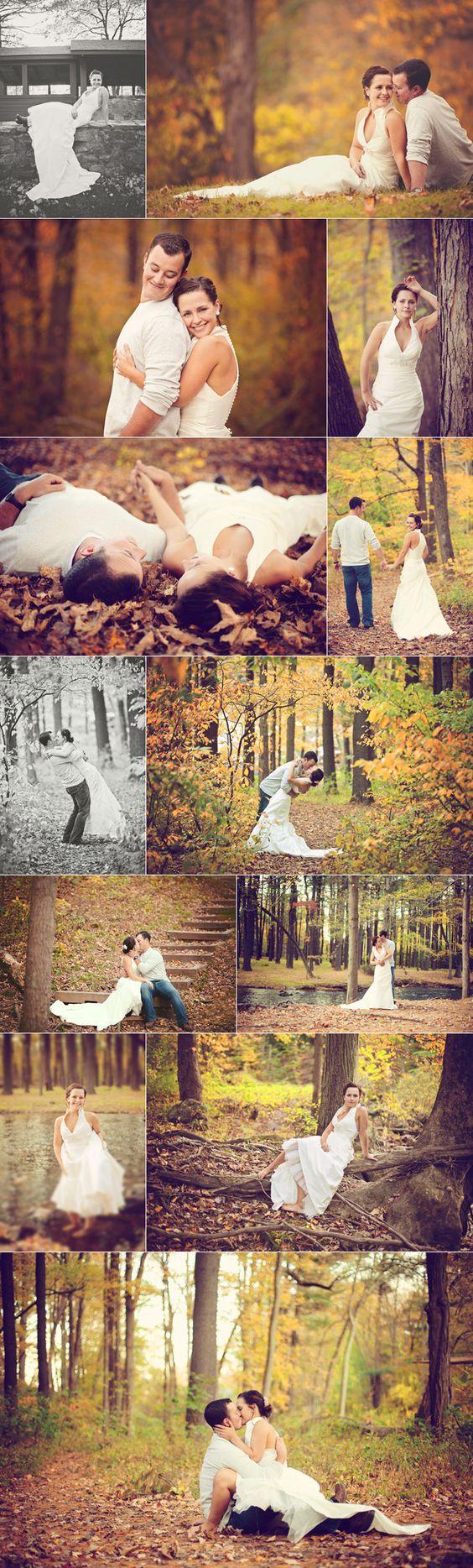 ¿Las fotografías de boda?, por el campo