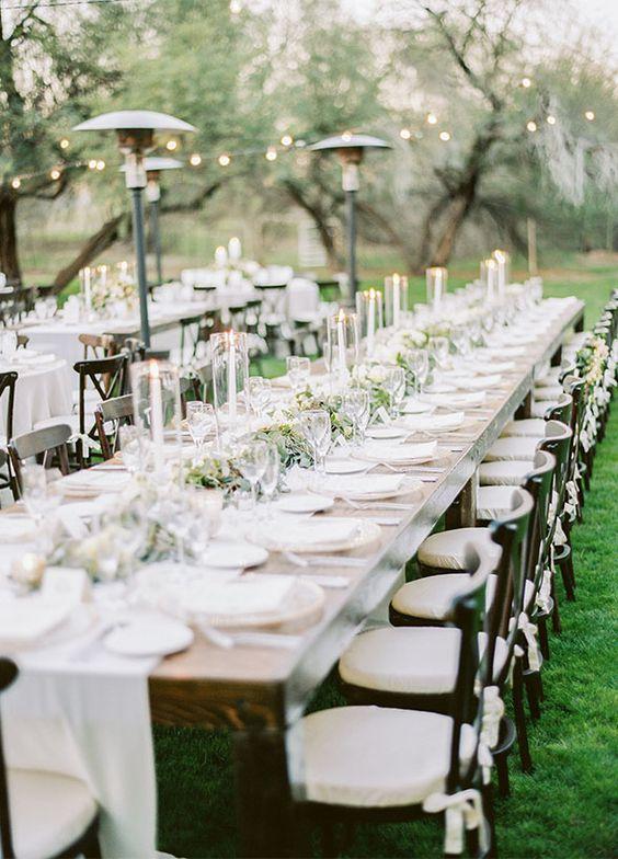 Decoración de mesas para bodas con estilo rústico