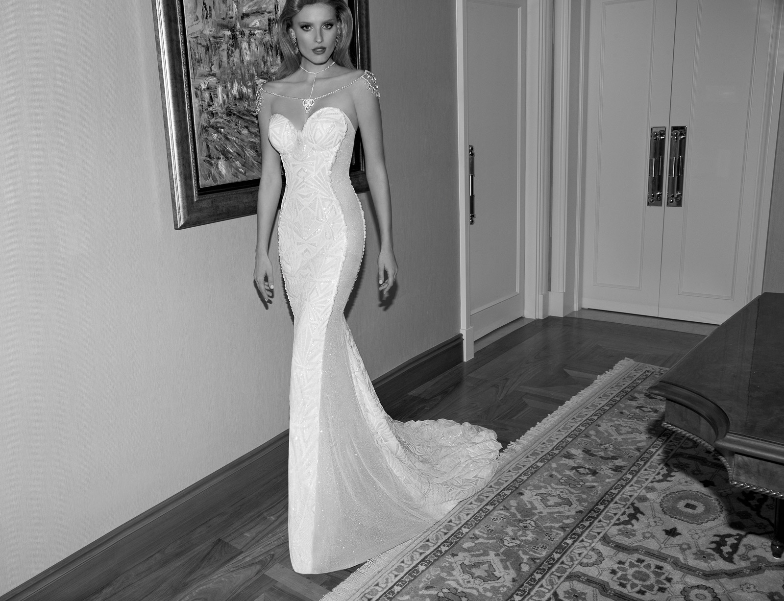 Vestido de novia ajustado de la firma Galia Lahav