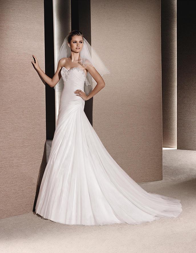 Sencillo vestido sirena de La Sposa