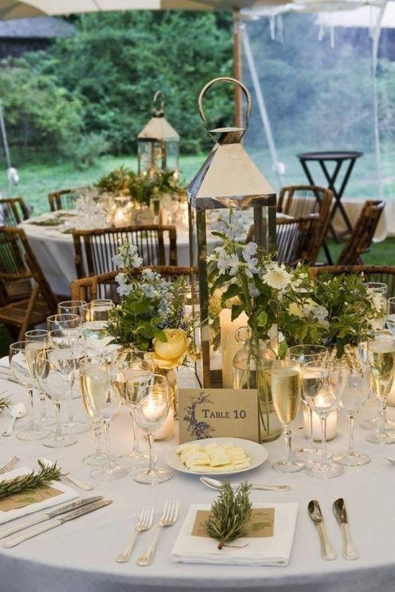 Un centro de mesa perfecto para una boda con estilo romántico