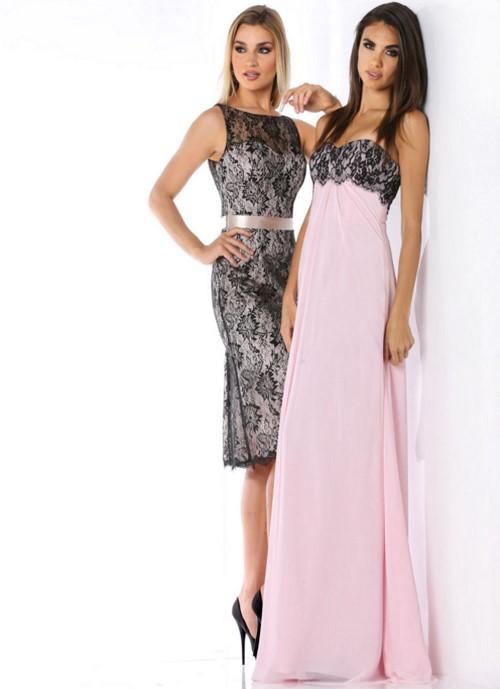 Los vestidos con encajes son el punto más sofisticado de cada look