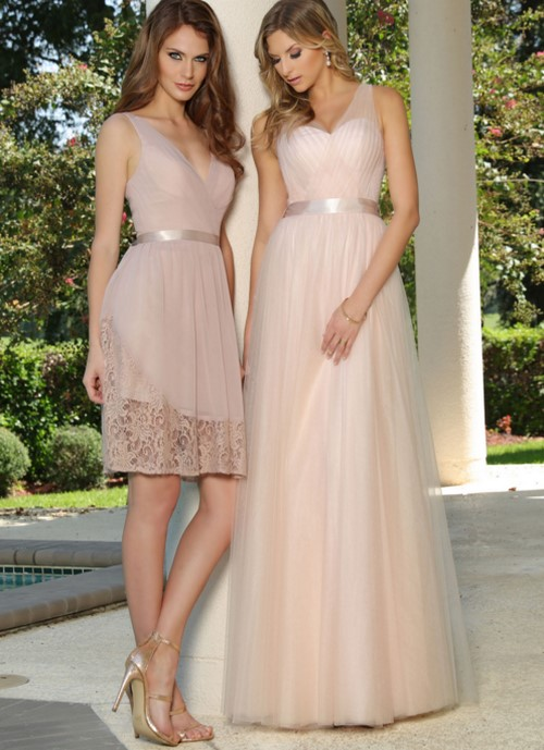 ¿Vestidos largos o cortos para tus damas de honor?