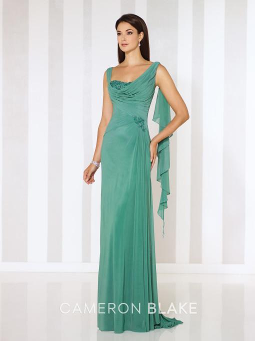 Vestido verde con suave caída para nuestras mamás