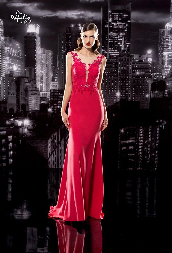 Vestido largo y rosa