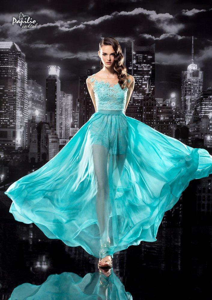 Falda de gasa con transparencias para este tipo de vestidos