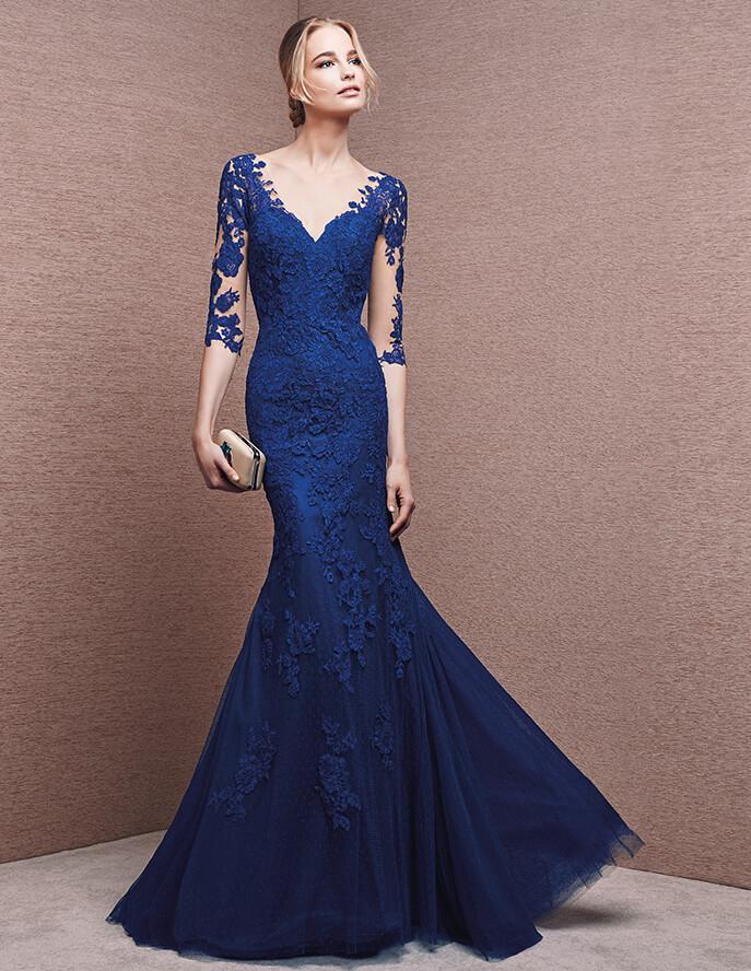 Media manga de encaje para un vestido de fiesta