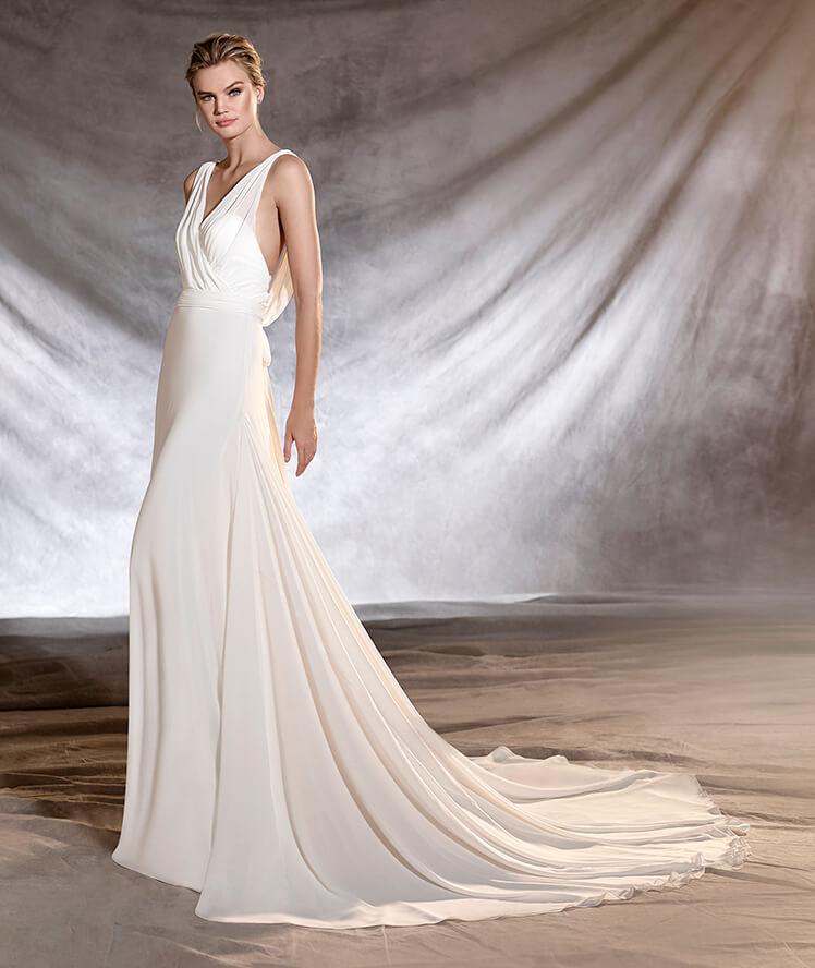 Tirantes flojos de gasa para un vestido de lo más delicado