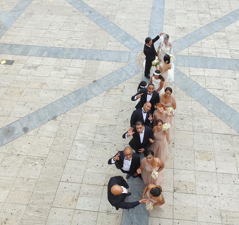 La comitiva de la boda