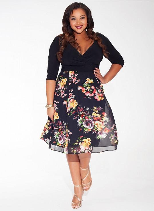 Falda con estampado de flores para un vestido moderno