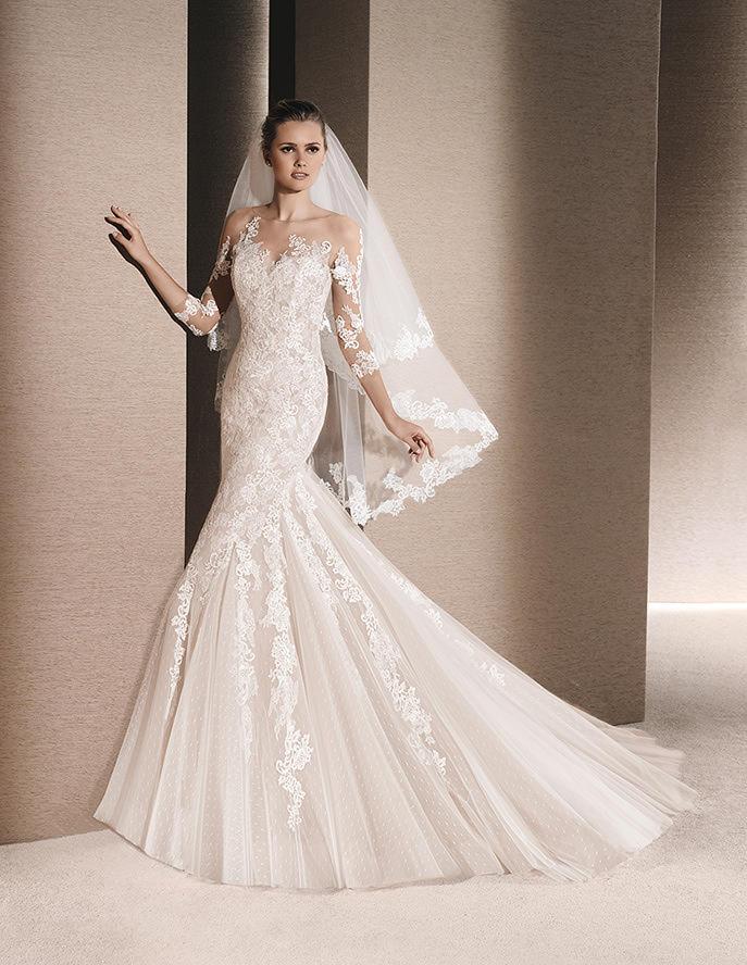 Vestido romántico para novias