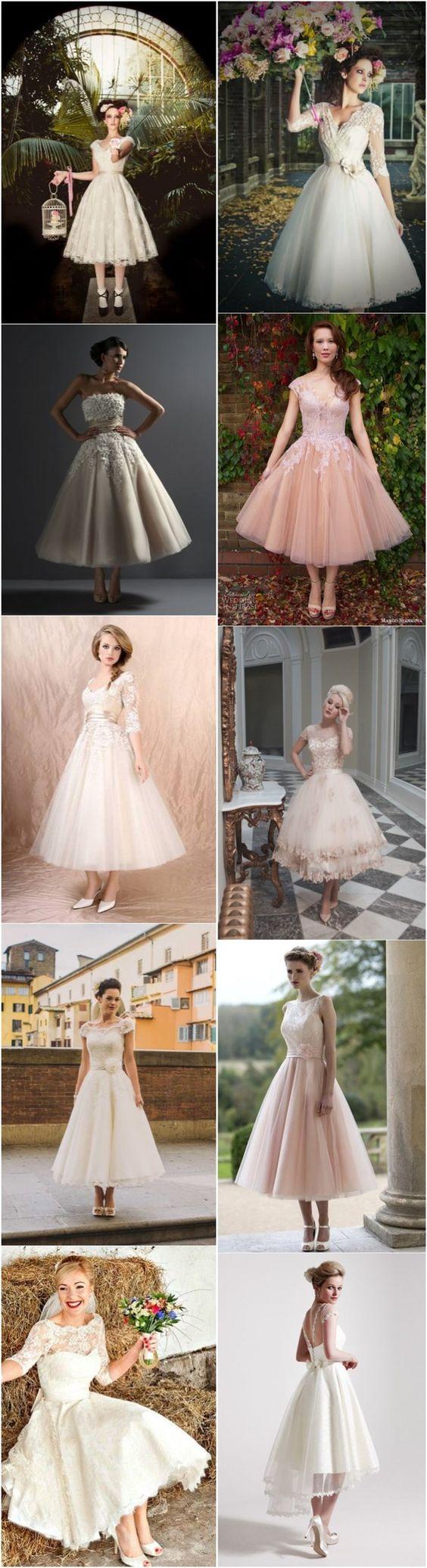 vestidos cortos de novia retro