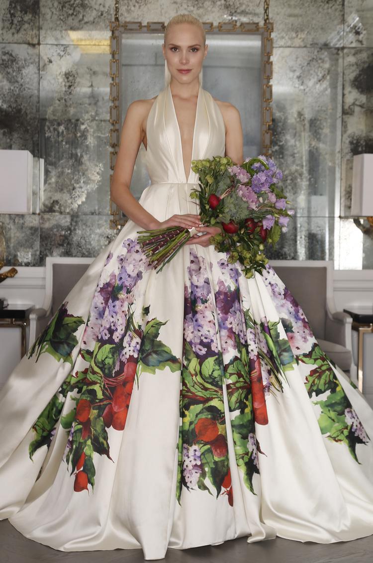 Vestido de tirantes con grandes flores