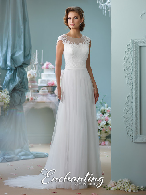 Sencillo vestido de novia