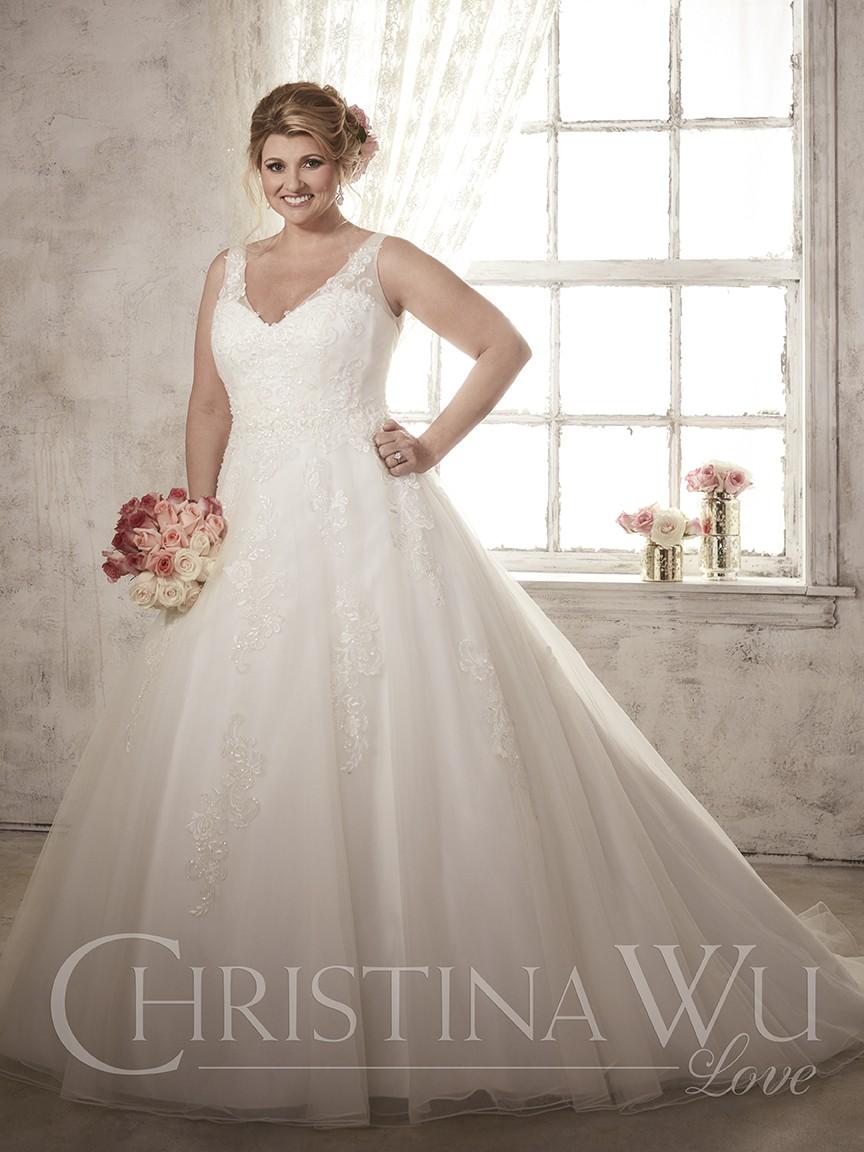 Un vestido perfecto para una novia muy romántica