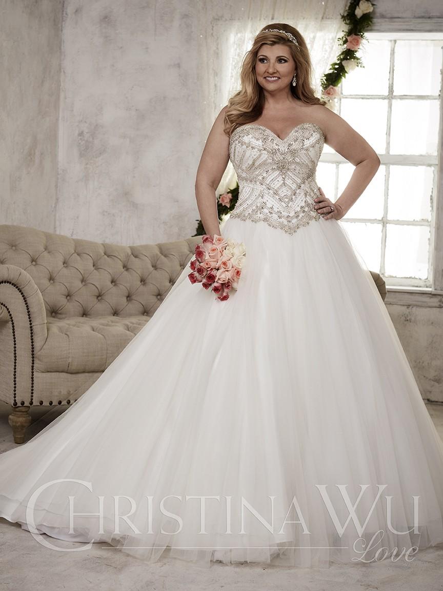 Los vestidos plus size para las novias princesa