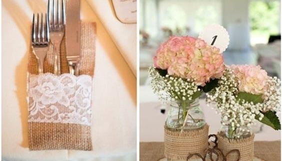 Ideas Matrimonio Rustico : Decoraciones para bodas ideas creativas para boda rústica