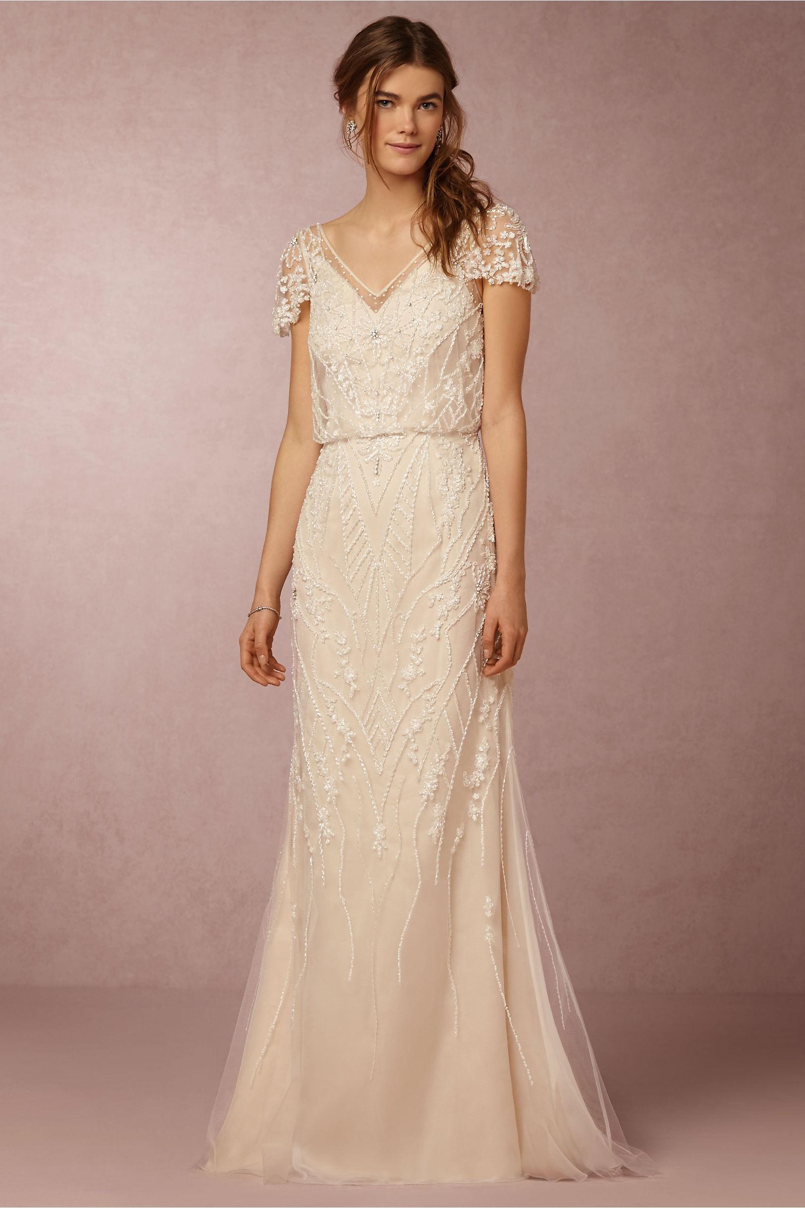Hechuras sencillas para los vestidos de novia más boho