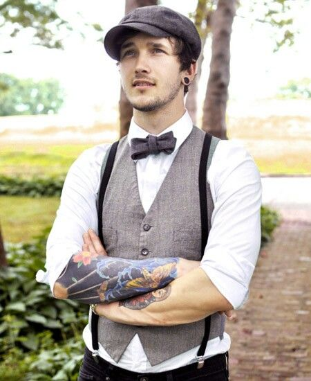 Un novio con estilo retro