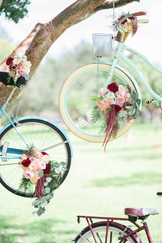 Decoración con bicis para tu boda