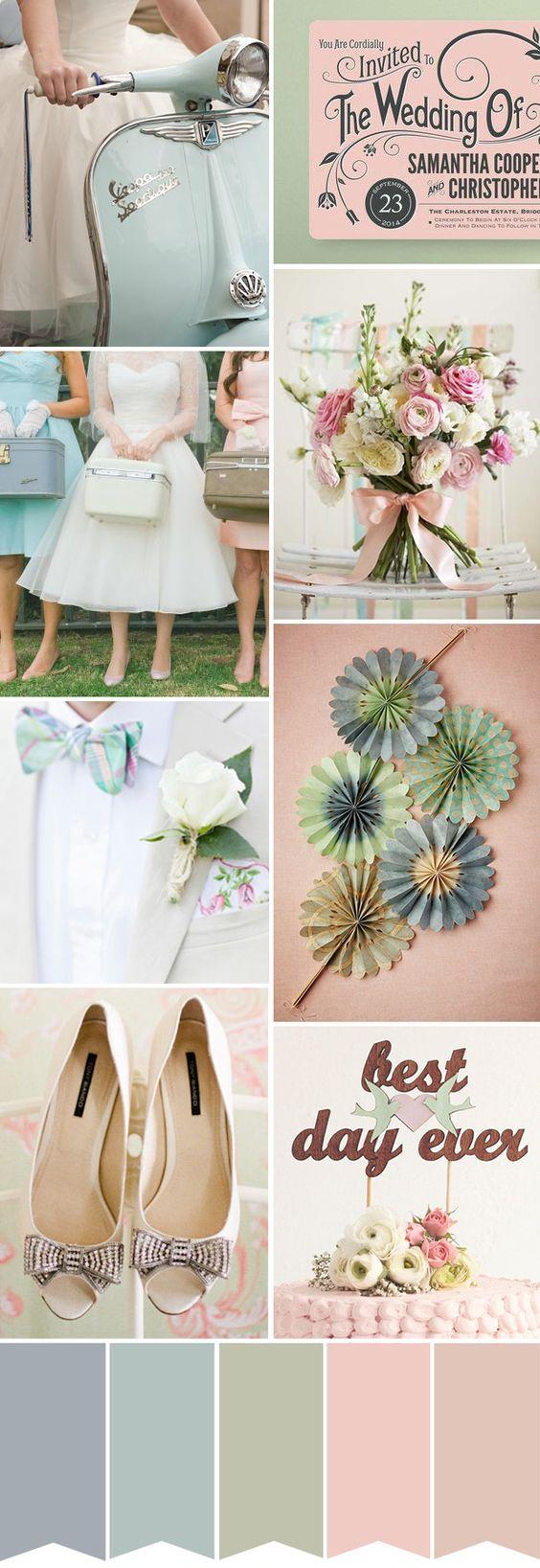 Colores pastel para la decoración de tu boda