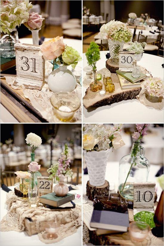 La decoración rústica también se apodera de las mesas