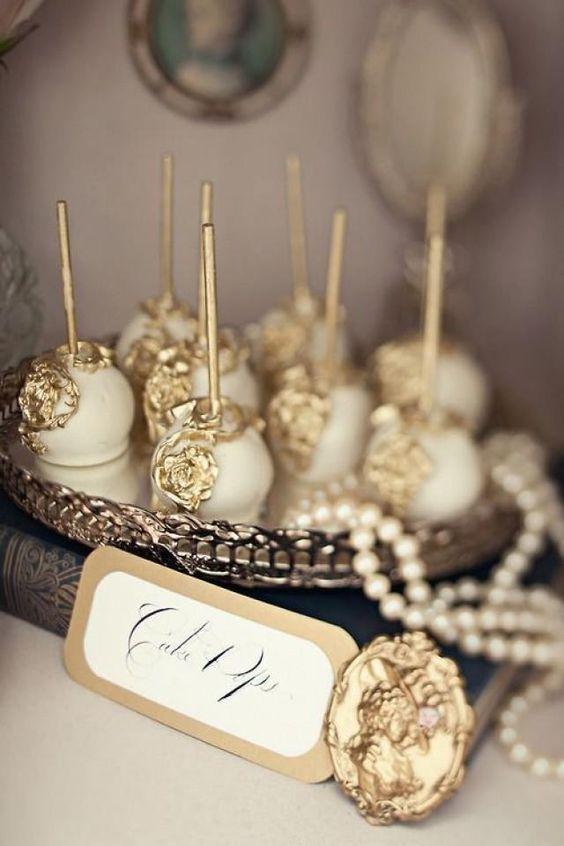 Cake-pops dorados