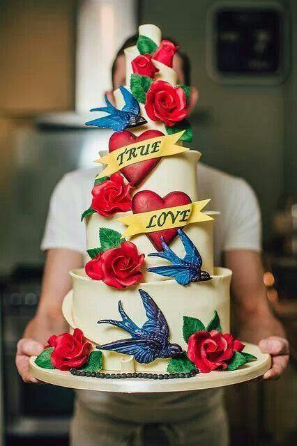 Tarta muy colorida para bodas