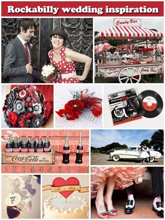 Estilo rockabilly para las bodas con aire de los años 50