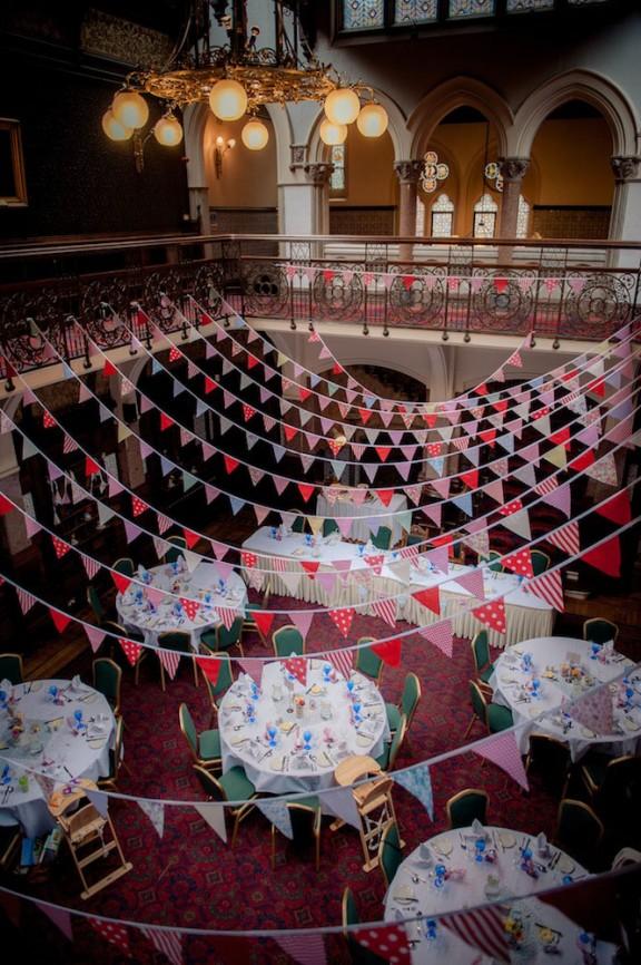 Sencilla decoración del banquete de bodas