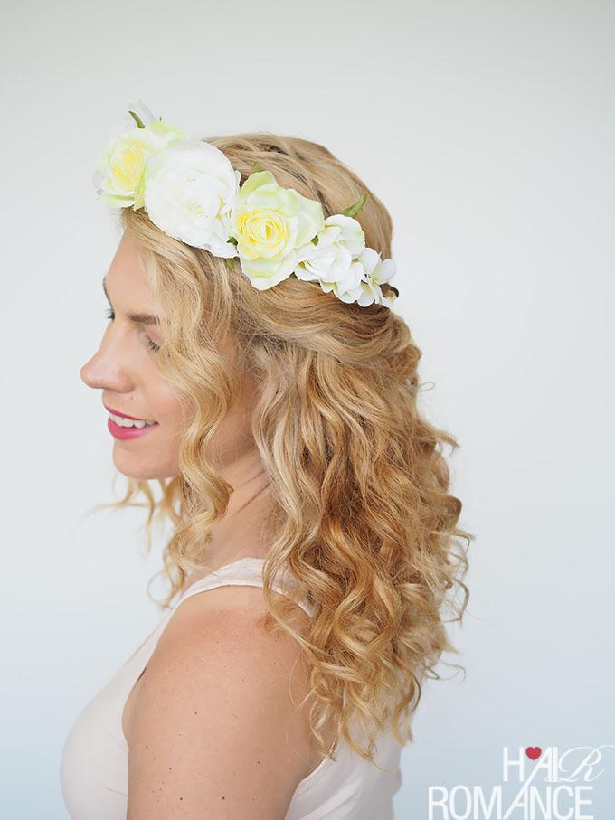 Peinado para novias con estilo boho