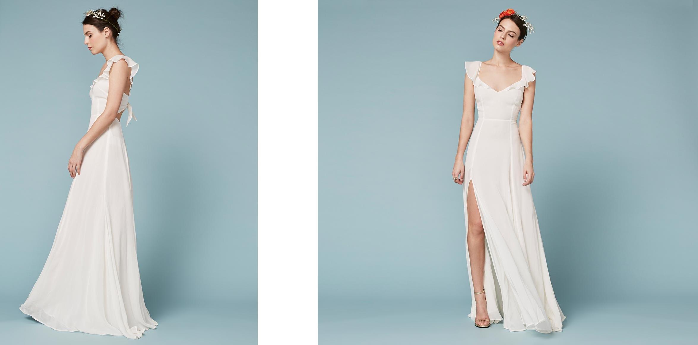 Vestido de novia con abertura en las piernas