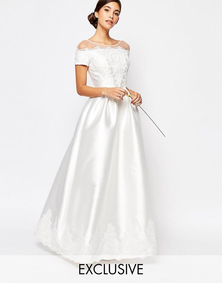 Vestido de novia satinado de Asos