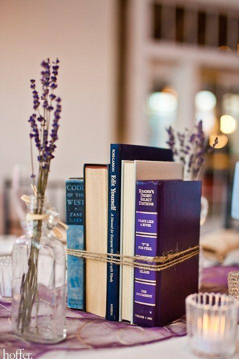 Libros para decorar las mesas
