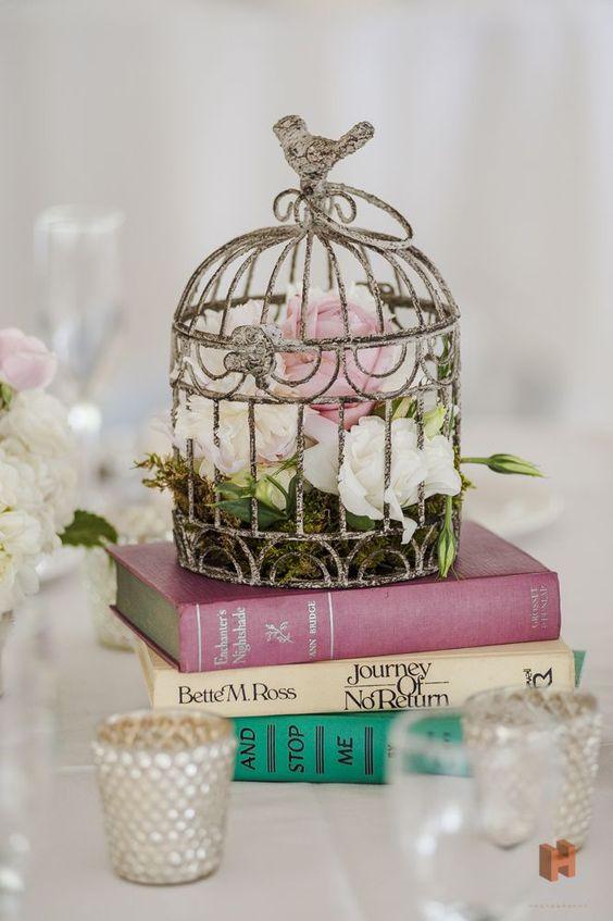 Los libros también se combinan con las jaulas