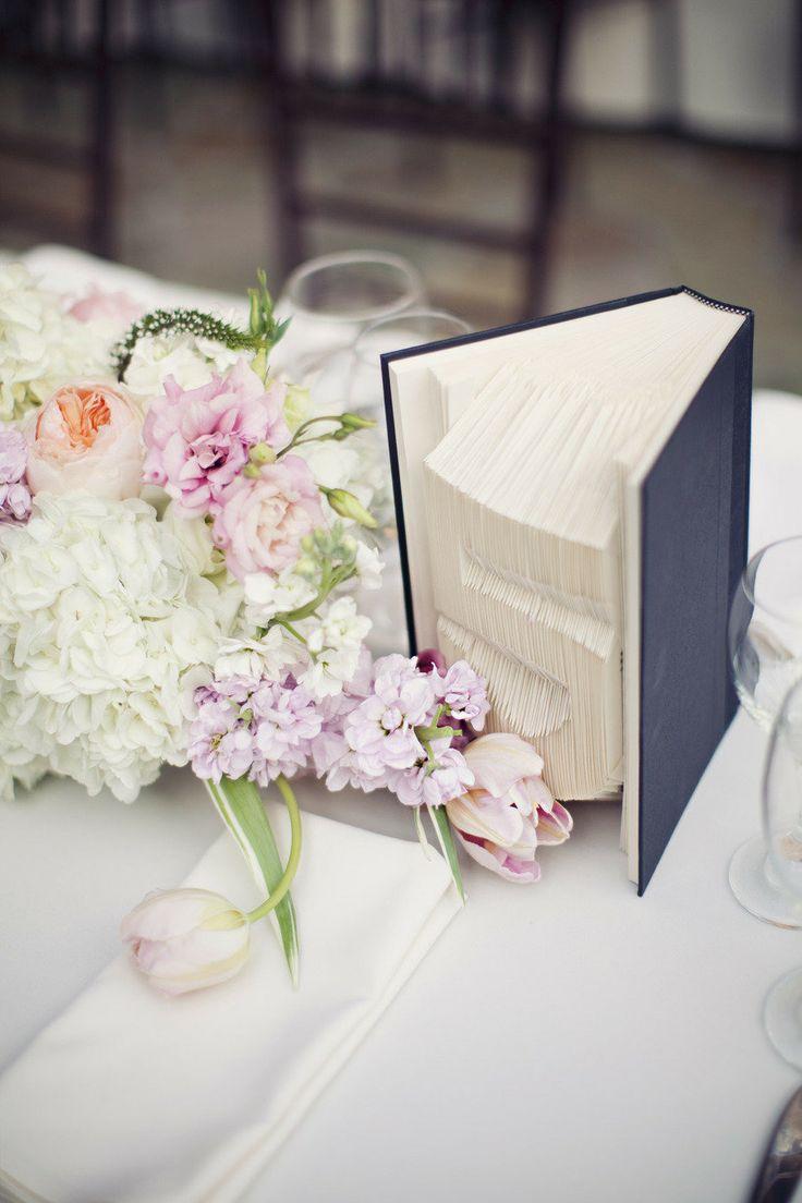 ¿Qué mejor manera de enumerar las mesas de boda?