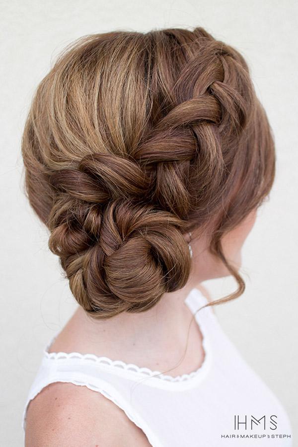 Las trenzas también son perfectas para el peinado de novia
