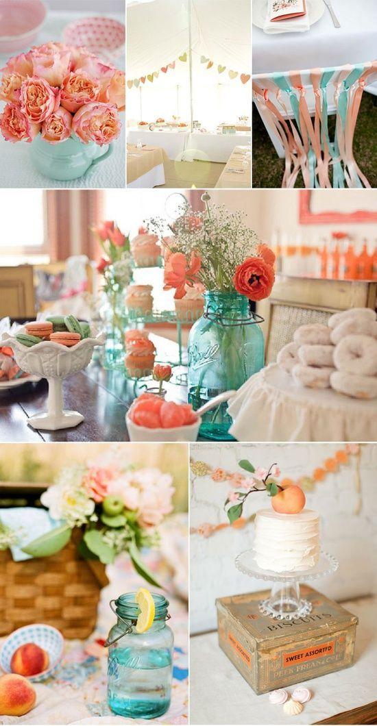 Combinación de dos colores para boda