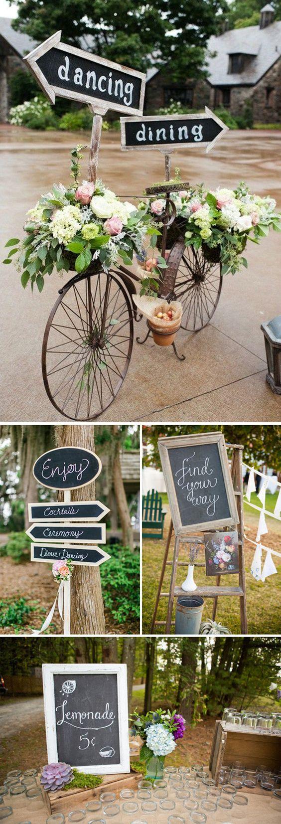 Carteles originales para tu boda