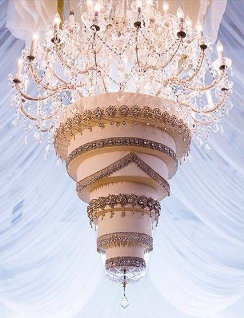 Pastel colgado de la lámpara