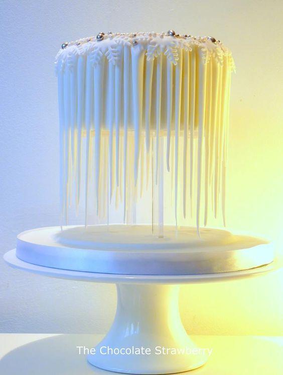 El pastel flotando para una boda original