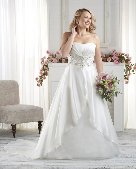Precioso vestido con doble falda