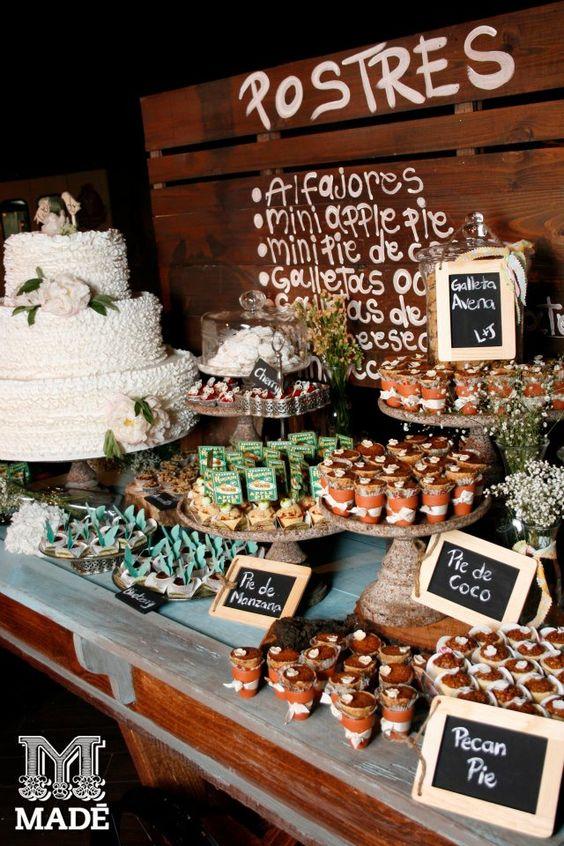 Mesa de dulces buffet