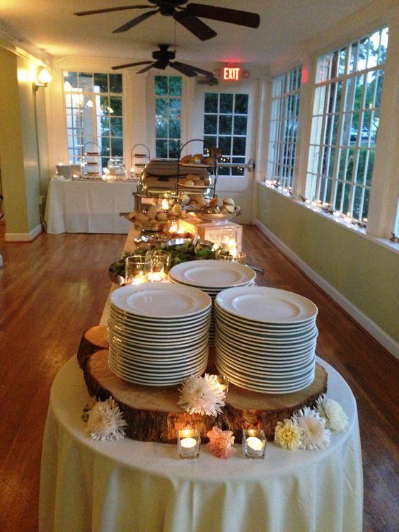 Banquete para boda de tipo buffet